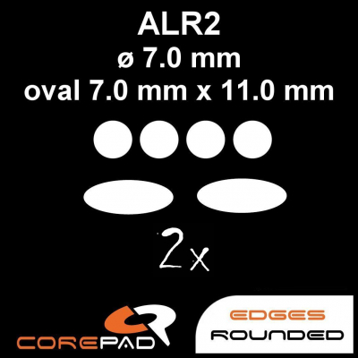 Corepad Skatez ALR 2 Mouse-Feet AllRound use - round ø 7,0 mm / oval 7,0 mm x 11,0 mm
