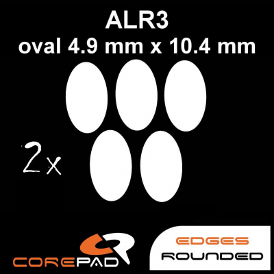 Corepad Skatez ALR 3 Mouse-Feet AllRound use - oval 4,9 mm x 10,4 mm
