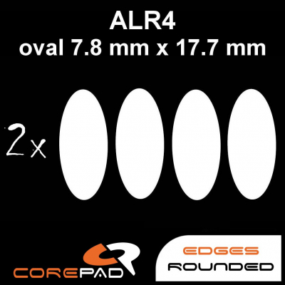 Corepad Skatez ALR 4 Mouse-Feet AllRound use - oval 7,8 mm x 17,7 mm