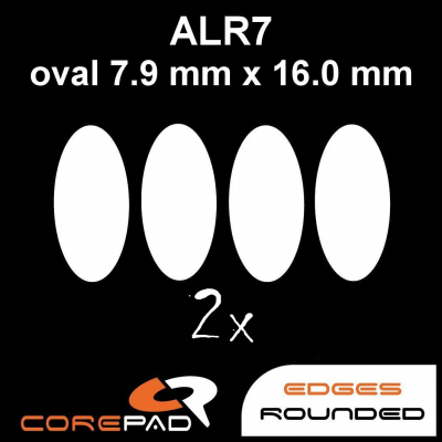Corepad Skatez ALR 7 Mouse-Feet AllRound use - oval 7,9 mm x 16,0 mm
