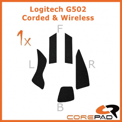 Corepad Grips Logitech G502 Proteus Core / G502 Proteus Spectrum / G502 Hero / G502 Lightspeed Wireless