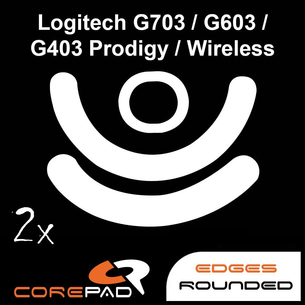 Mouse Feet with Mouse Wheel Encoder for Logitech G403 G603 G703